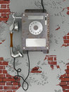 Old style rusty phone Royalty Free Stock Photo