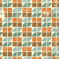 Old style seamless tiles mosaic, vector abstract background. Royalty Free Stock Photo