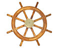Old Style Ship Wheel Royalty Free Stock Photo