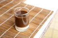 Old style thai coffee on a bamboo plate Royalty Free Stock Photos