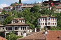 Old style turkish konak country houses on a tree covered hillside in safranbolu turkey Royalty Free Stock Photos