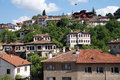 Old style turkish konak country houses on a tree covered hillside in safranbolu turkey Stock Photo