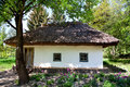 Old style ukrainian cottage Royalty Free Stock Photography