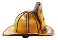 Old style USA firefighter helmet Royalty Free Stock Images