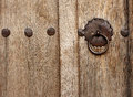 Old style wood door with latch bulgaria kotel may town Royalty Free Stock Image