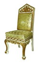 Old style wooden armchair Royalty Free Stock Images