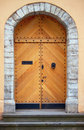 Old style wooden door Stock Images