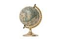 Old Style World Globe - Isolated on White Royalty Free Stock Photo