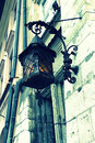 Old stylish street lamp close up Royalty Free Stock Photos
