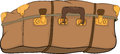 Old suitcase.Cartoon Stock Photo