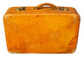 Old suitcase clipping path included Stock Images
