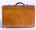 Old suitcase made of leather Stock Image