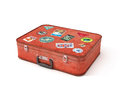 Old Suitcase Travel Stickers Royalty Free Stock Photo
