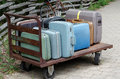 Old suitcase trolley Royalty Free Stock Photography