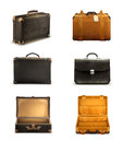 Old suitcases vector icons set with Stock Photos