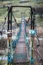 Old suspension bridge Royalty Free Stock Photo