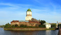 Old sweden castle on island in vyborg russia panorama Royalty Free Stock Images