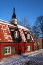 Old swedish house. Royalty Free Stock Photos