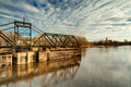Old Swinging Train Bridge Stock Image