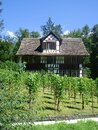 Old swiss farm house in open-air museum ballenberg in switzerland Royalty Free Stock Photo