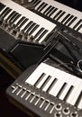 Old synthesizers instrument for pychedelic music Royalty Free Stock Photo