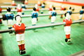 Old table soccer game Royalty Free Stock Images