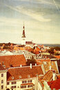 Old Tallinn cityscape Royalty Free Stock Photo