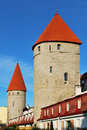 Old Tallinn, Estonia. Two towers Royalty Free Stock Image