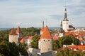 Old Tallinn skyline Royalty Free Stock Photo