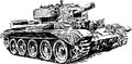 Old tank vector image of an Royalty Free Stock Photography