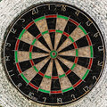 Old target dartboard with no hits Royalty Free Stock Photo