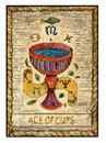 Old tarot cards. Full deck. Ace of Cups