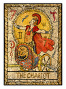 Old tarot cards. Full deck. The Chariot Royalty Free Stock Photo