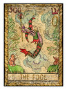 Old tarot cards. Full deck. The Fool