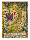 Old tarot cards. Full deck. The Hanged Man