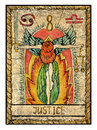 Old tarot cards. Full deck. Justice