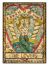 Old tarot cards. Full deck. The Lovers Royalty Free Stock Photo