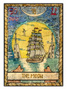 Old tarot cards. Full deck. The Moon Royalty Free Stock Photo