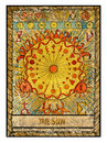 Old tarot cards. Full deck. The Sun Royalty Free Stock Photo