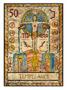 Old tarot cards. Full deck. Temperance