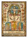 Old tarot cards. Full deck. Temperance