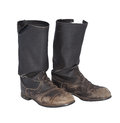 Old tarpaulin military boots isolated on a white background Stock Photography
