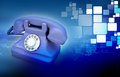 Old telephone d illustration of an on abstract background Royalty Free Stock Photos