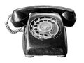 Old telephone isolate on white a come from asia Stock Photos