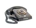 Old telephone isolated antique with dial ring on a white background Royalty Free Stock Photo
