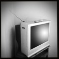 Old television Stock Photo