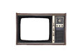 Old television the tv on the isolated white background Royalty Free Stock Photography