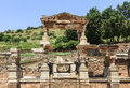 Old temple of ephesus ruins in turkey Royalty Free Stock Images