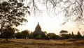 stock image of  Old temple at sunset in Bagan, Myanmar