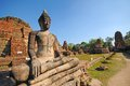 Old temple in thailand ayutthaya Stock Photography